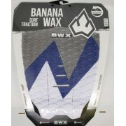 Deck Banana Wax Surf Traction Branco Azul e Cinza