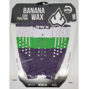 Deck Banana Wax Surf Traction Branco Verde e Roxo