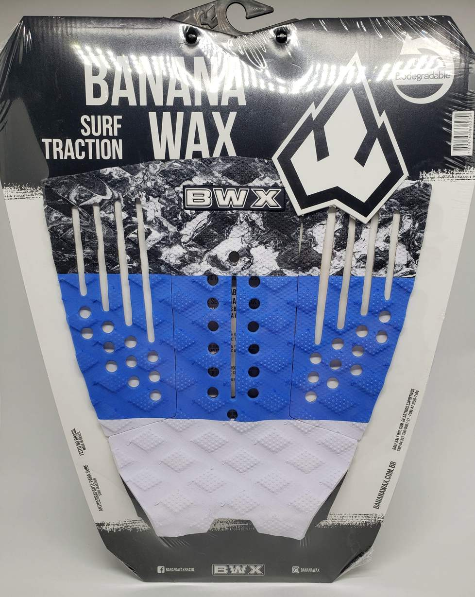 Deck Banana Wax Surf Traction Azul e Branco