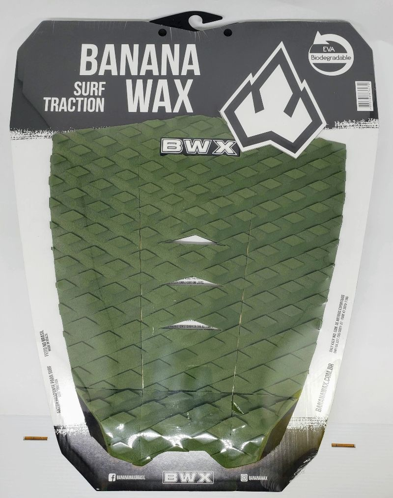 Deck Banana Wax Surf Traction Cor Única Verde Musgo