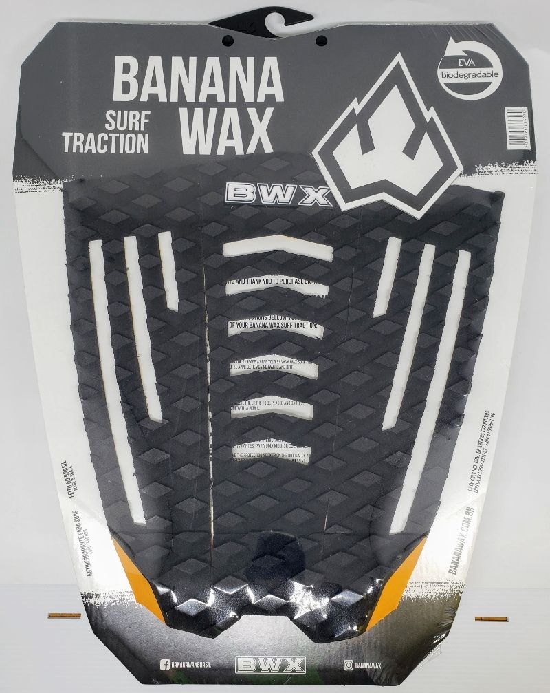 Deck Banana Wax Surf Traction Preto e Laranja
