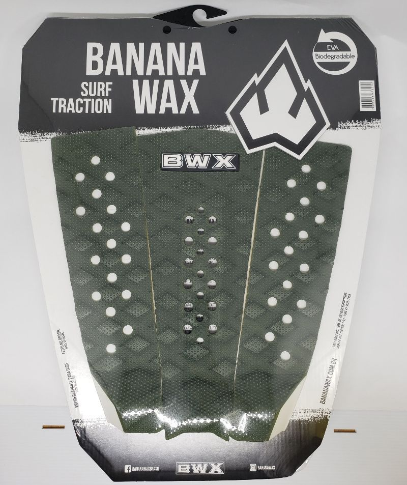 Deck Banana Wax Surf Traction Verde Musgo Tripartido