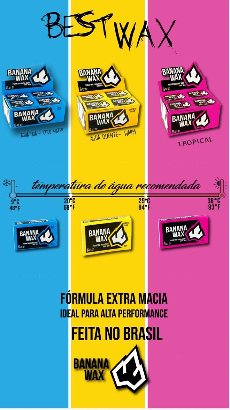 Parafina Banana Wax Tropical Kit com 20