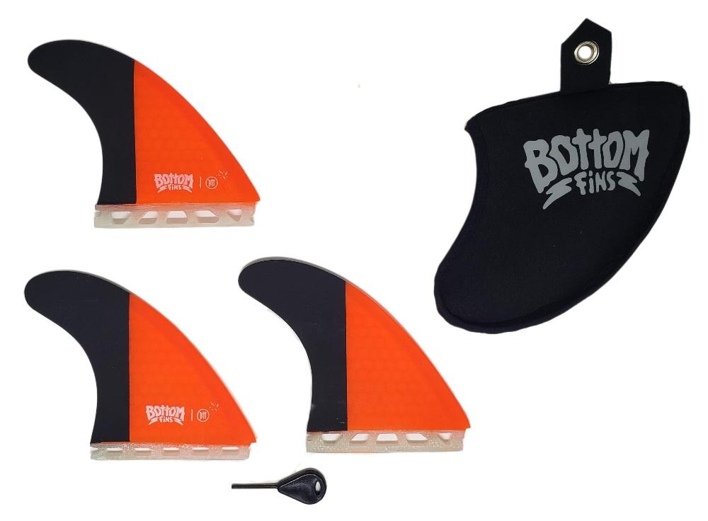 Quilha Bottom Fins BTT Future Medium (laranja e preto)