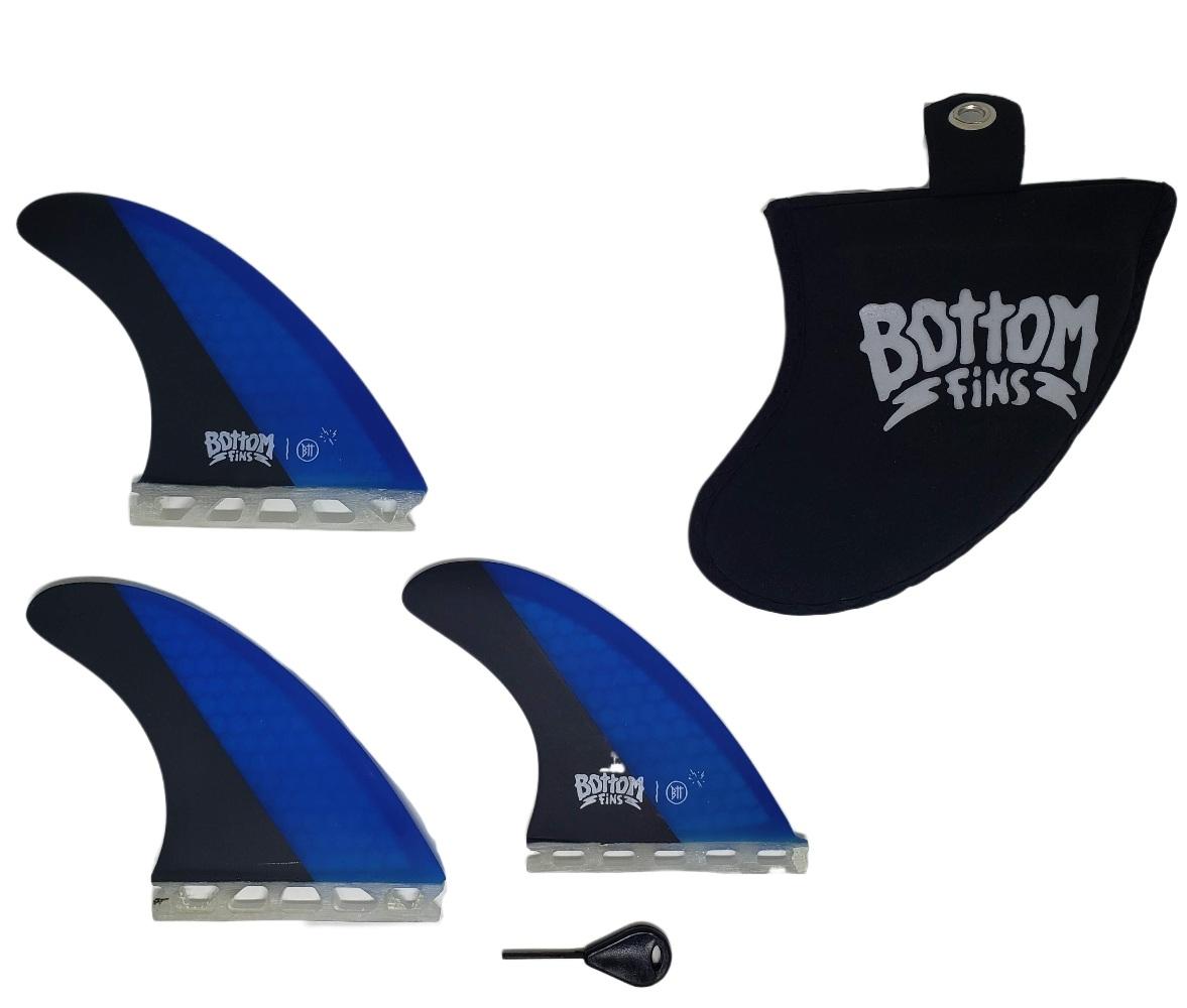 Quilha Bottom Fins BTT Future Medium (preta e azul)
