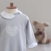 Macacão Coração Cinza - Tricotil