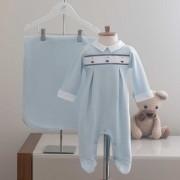 Saída Maternidade Barquinho Azul - Tricotil