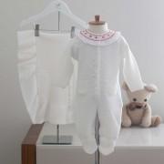 Saída Maternidade Bela Off White - Tricô