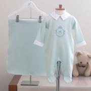 Saída Maternidade Brasão Verde - Tricotil