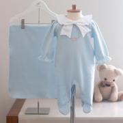 Saída Maternidade Chloé Azul - Tricotil