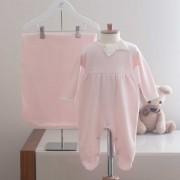 Saída Maternidade Laço Rosa - Tricotil