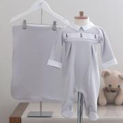 Saída Maternidade Soldadinho Cinza - Tricotil