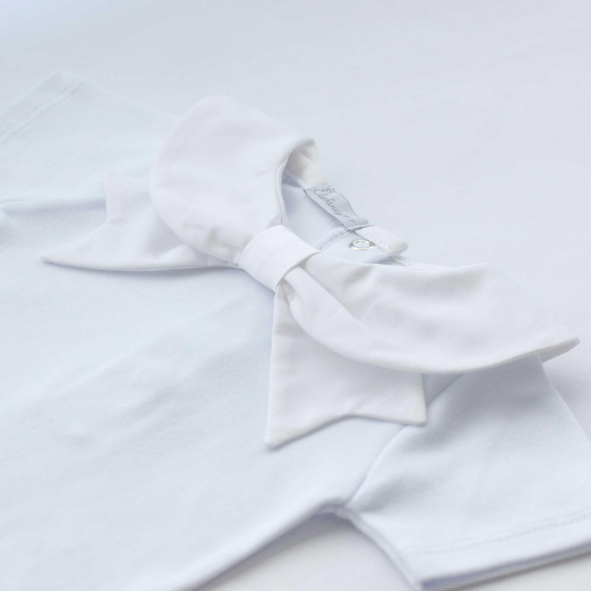Body Laço Branco Manga Curta