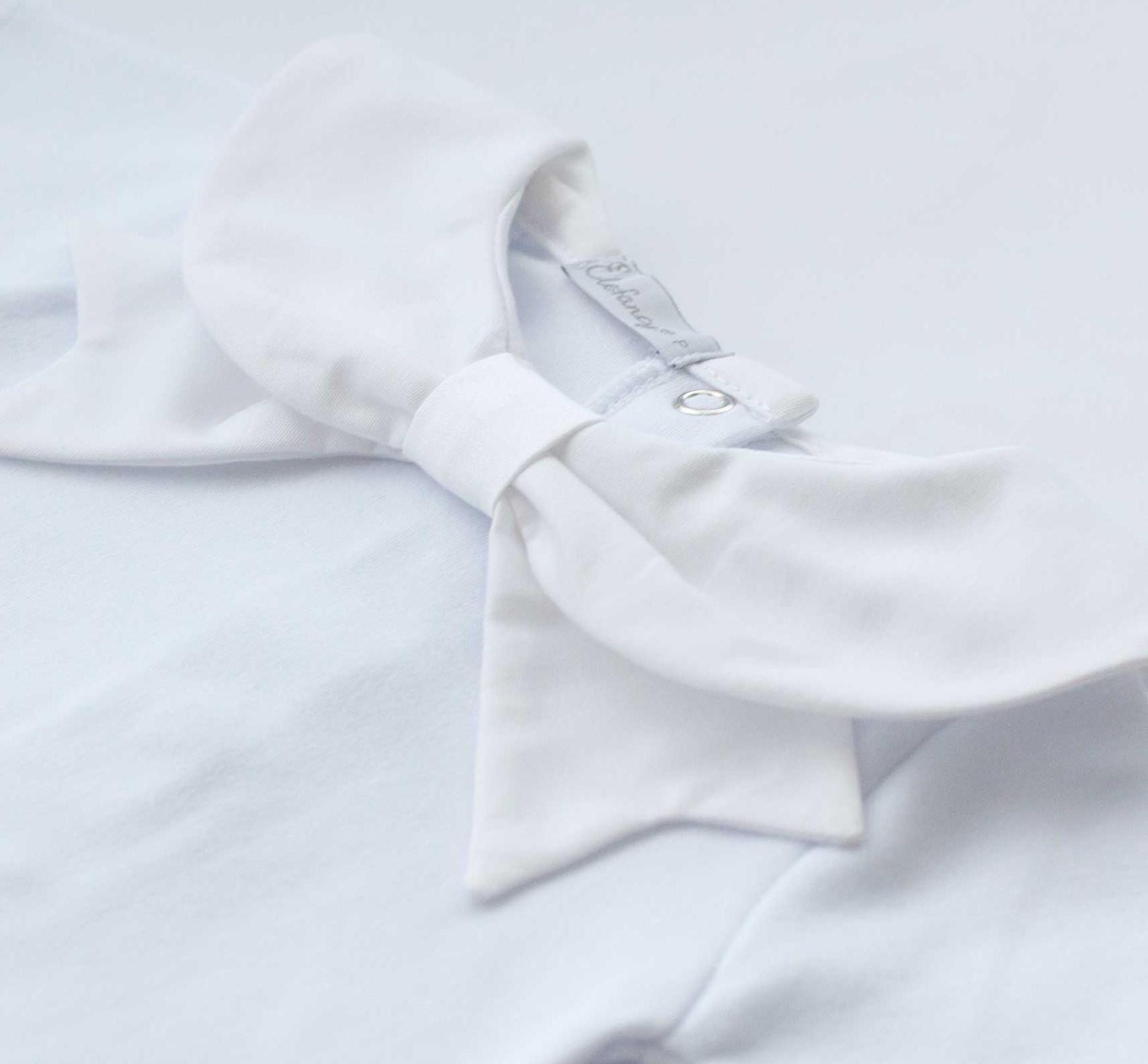 Body Laço Branco Manga Longa