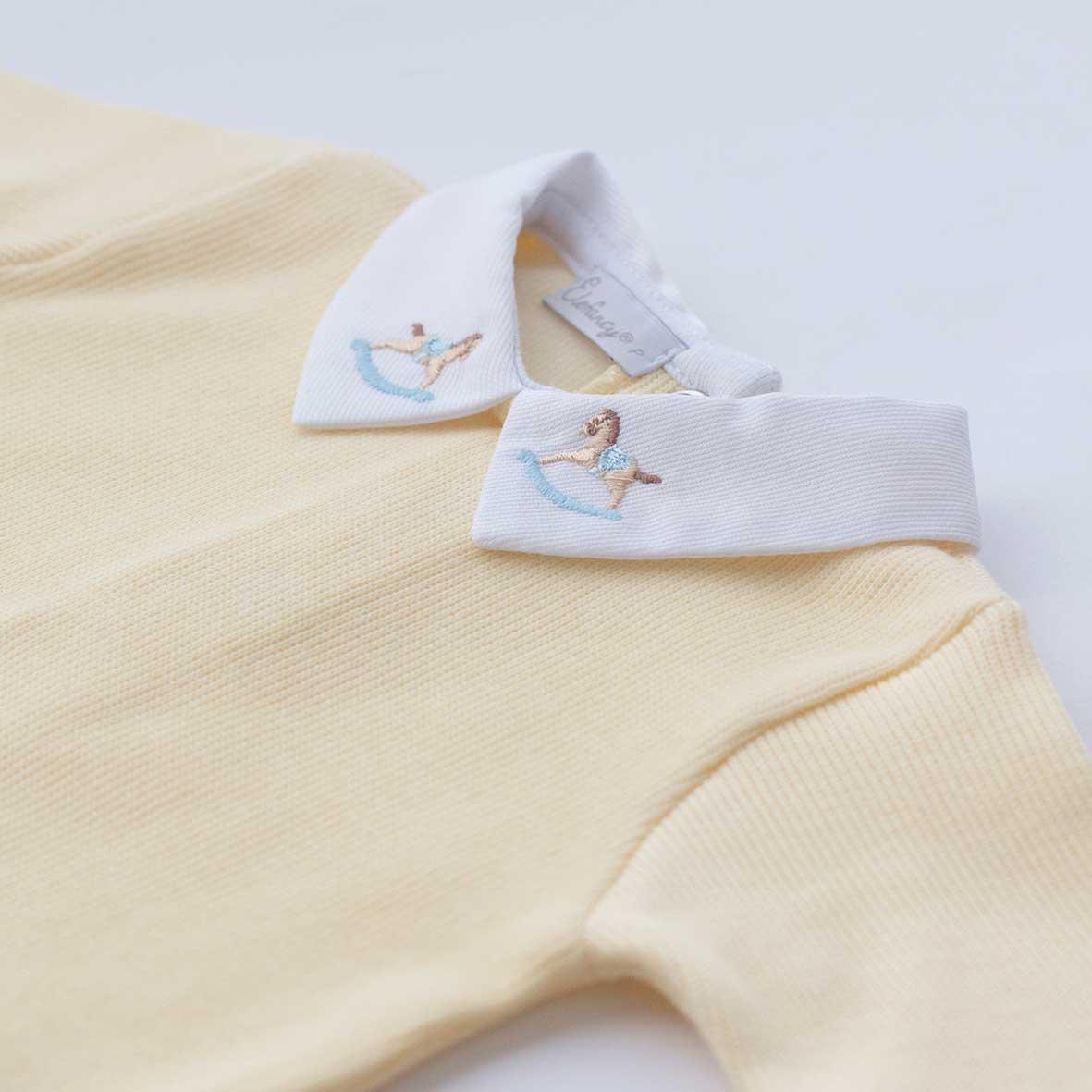Macacão Cavalinho Amarelo - Tricotil