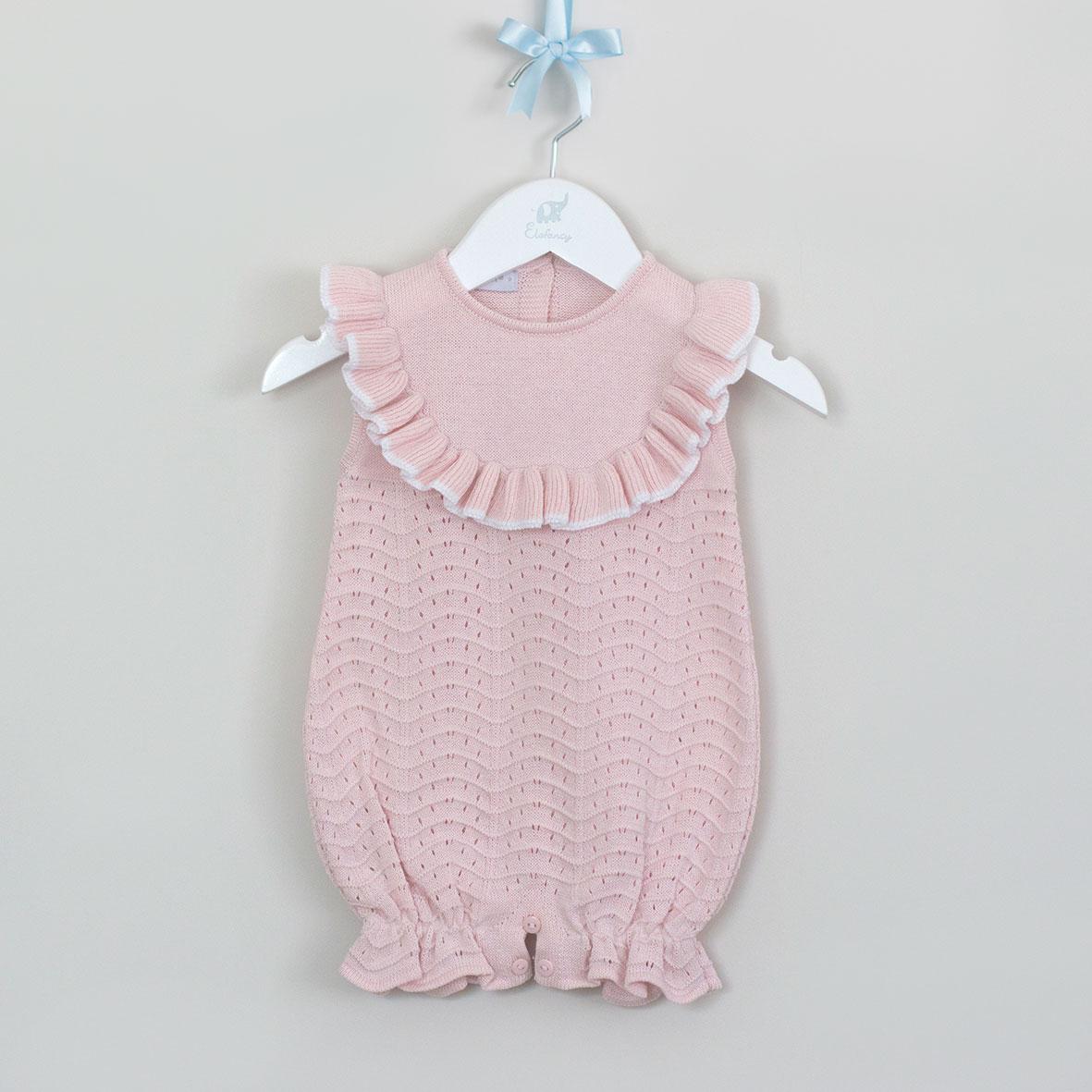Macacão de bebê curto Rosa