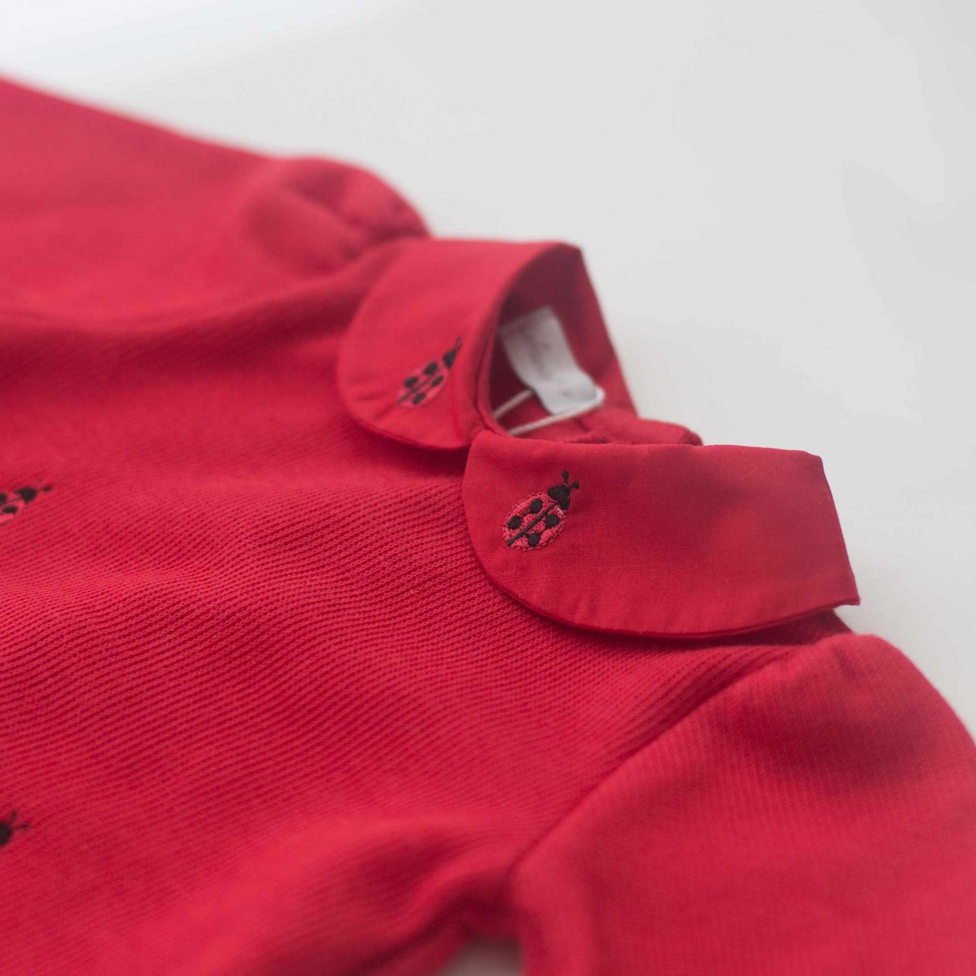 Macacão Joaninha Vermelho - Tricotil