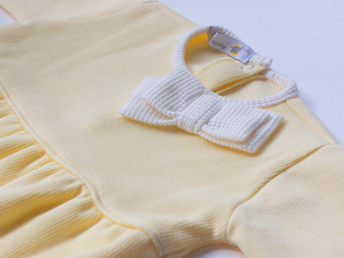 Macacão Laço Amarelo - Tricotil