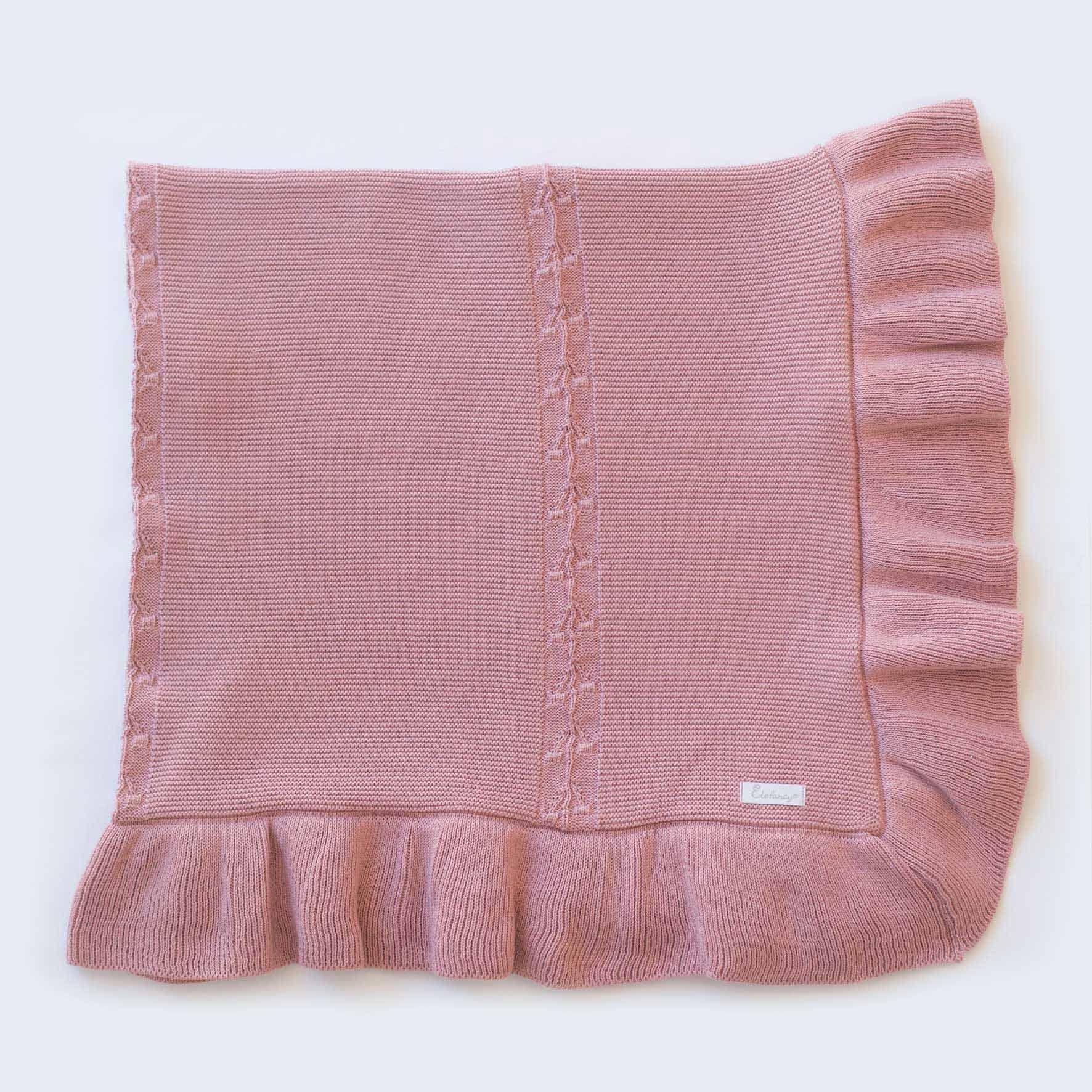 Manta Bela Rosé - Tricô