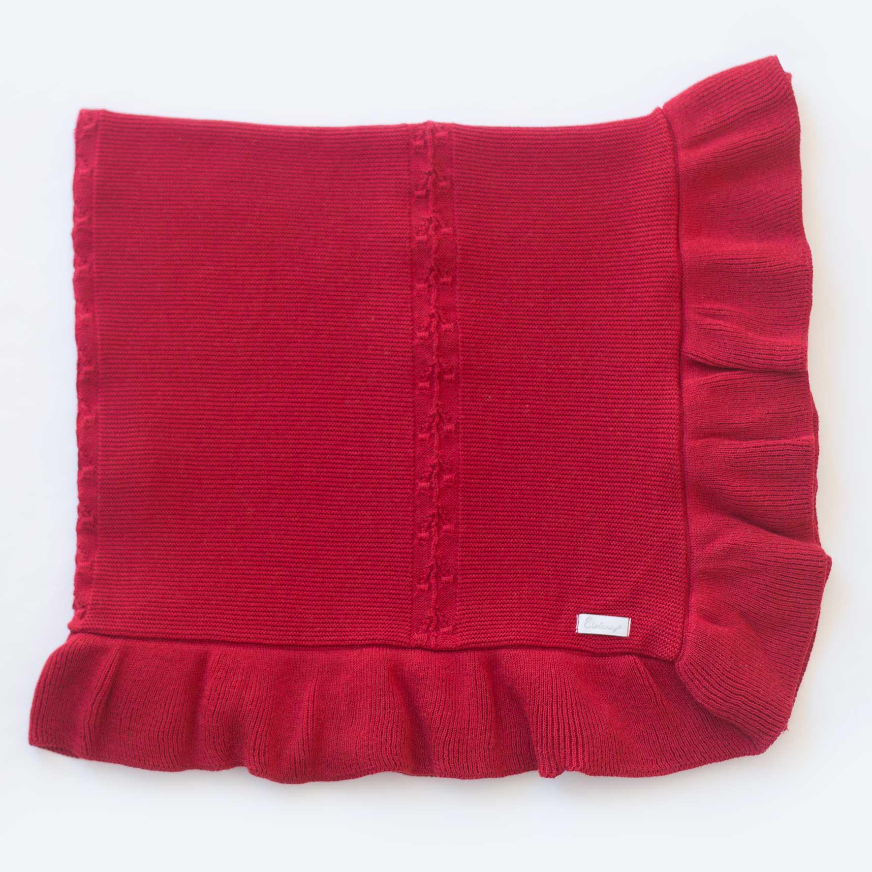 Manta Bela Vermelha - Tricô