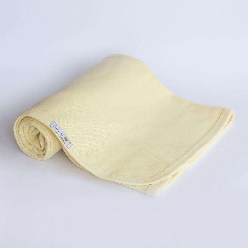 Manta Dupla - Tricotil e Suedine Amarela