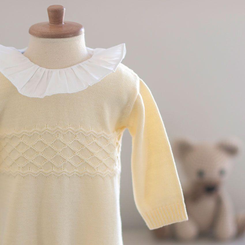 Saída Maternidade Amor Amarela - Tricô