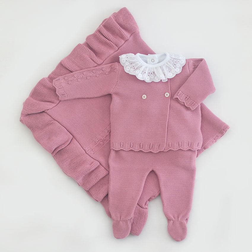 Saída Maternidade Ane Rosé  - Tricô