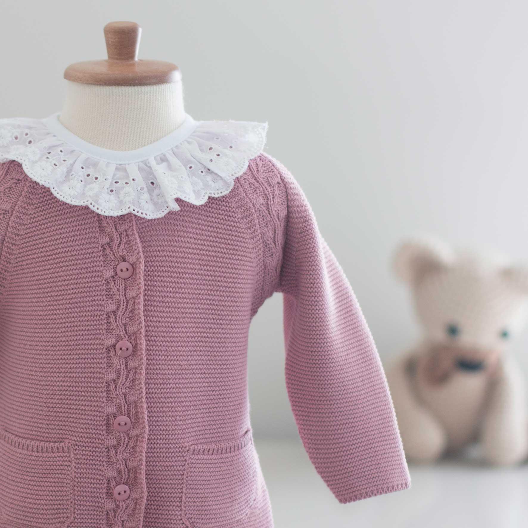 Saída Maternidade Bela Rosé - Tricô