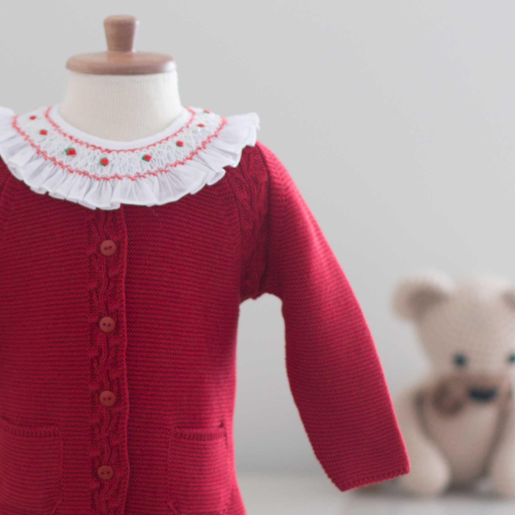 Saída Maternidade Bela Vermelha - Tricô