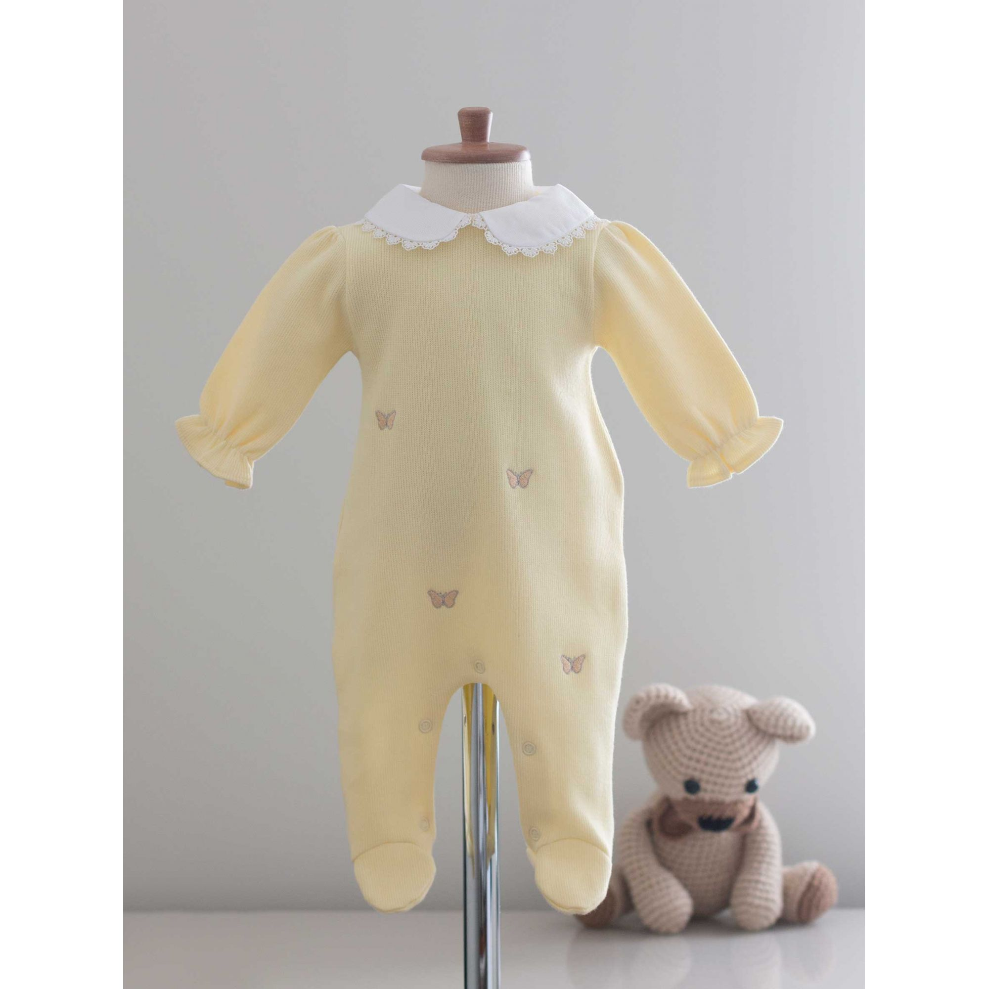 Saída Maternidade Borboleta - Tricotil