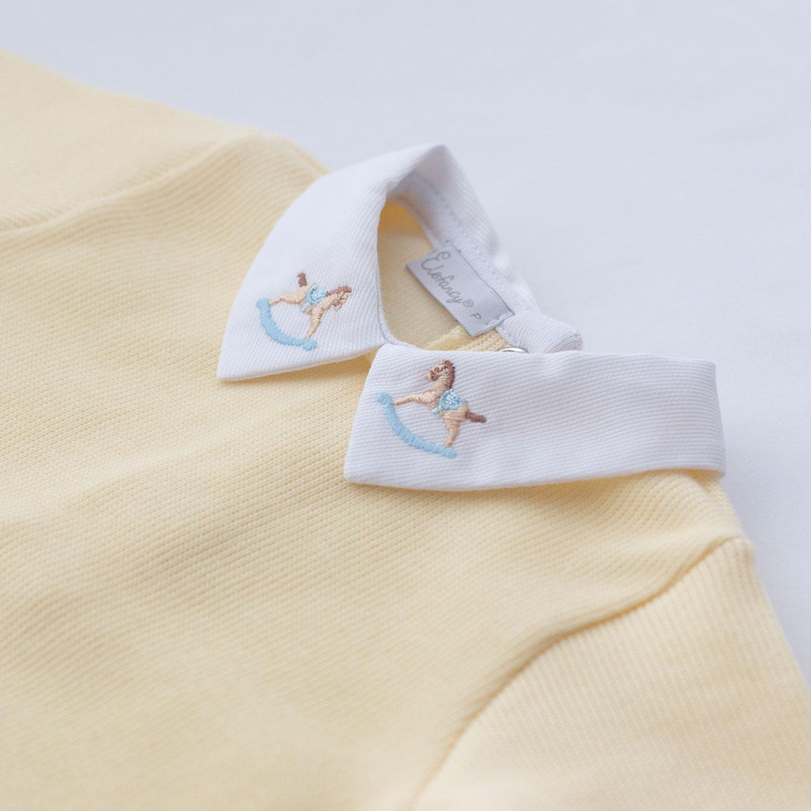 Saída Maternidade Cavalinho Amarelo - Tricotil