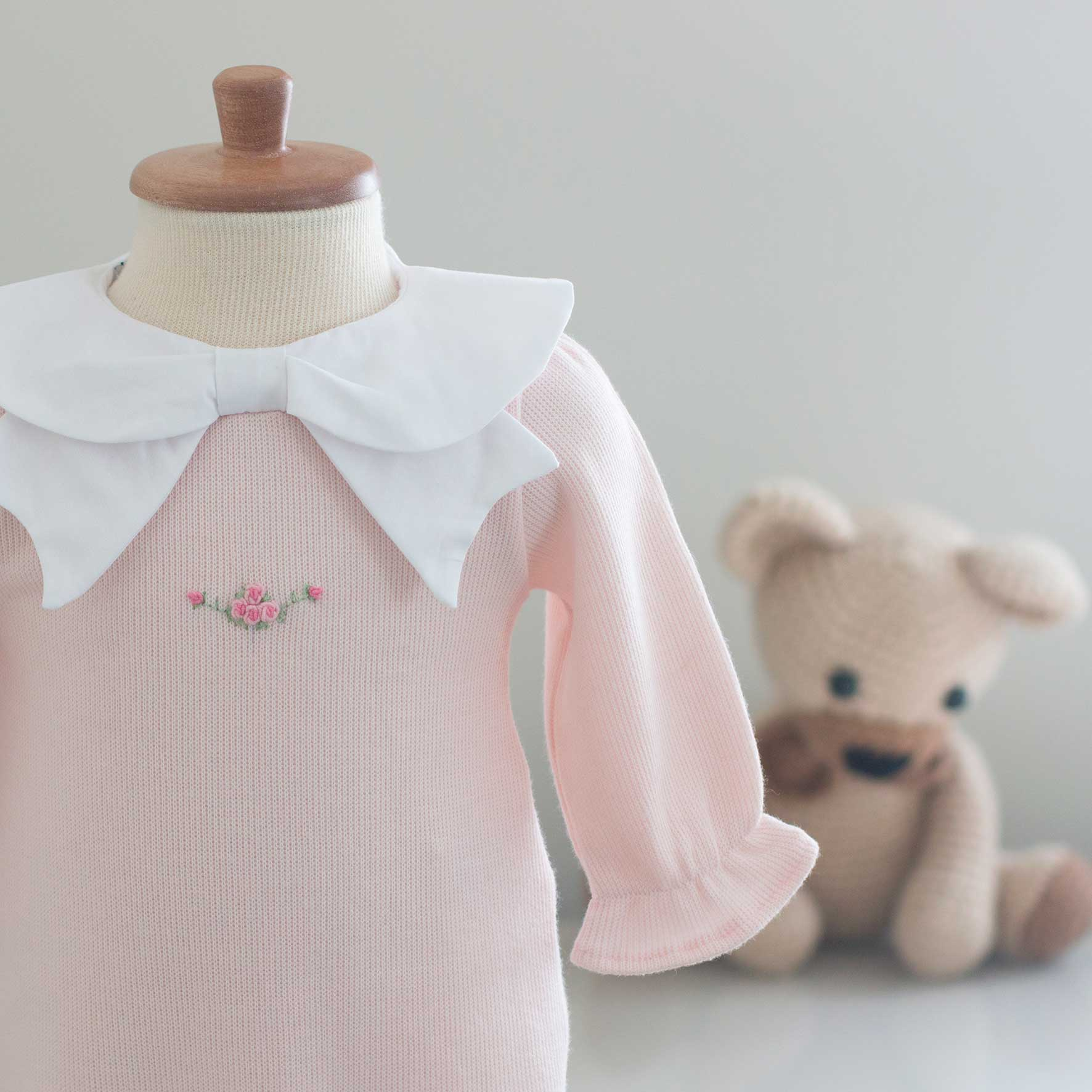 Saída Maternidade Chloé Rosa - Tricotil