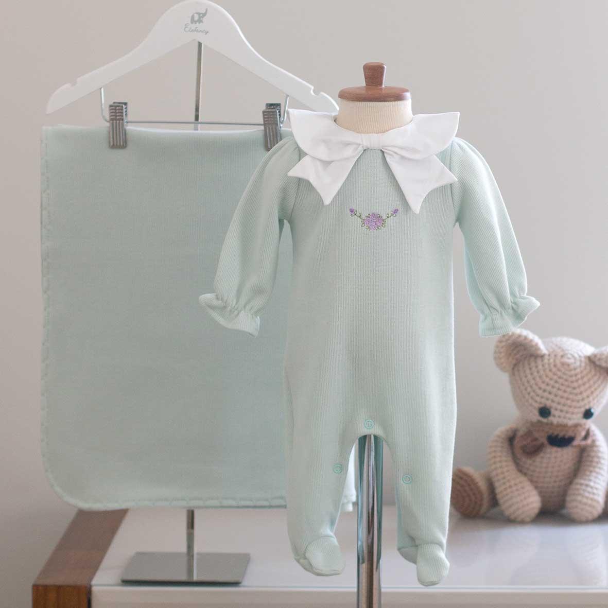 Saída Maternidade Chloé Verde - Tricotil