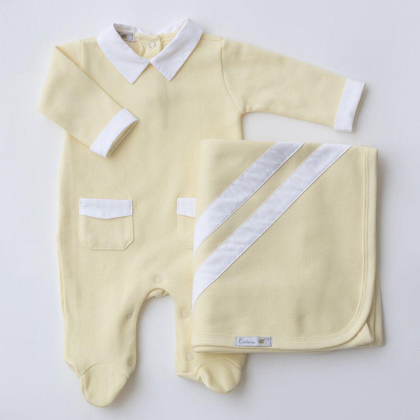 Saída Maternidade Clássica Amarela - Tricotil