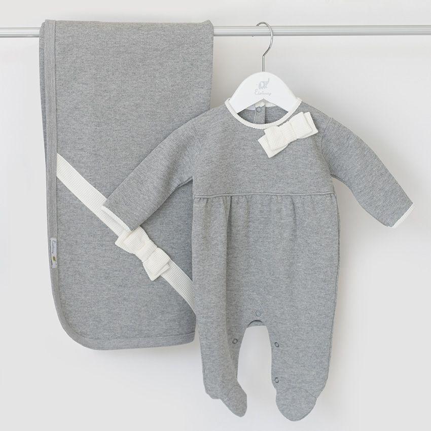 Saída Maternidade Laço Cinza - Tricotil