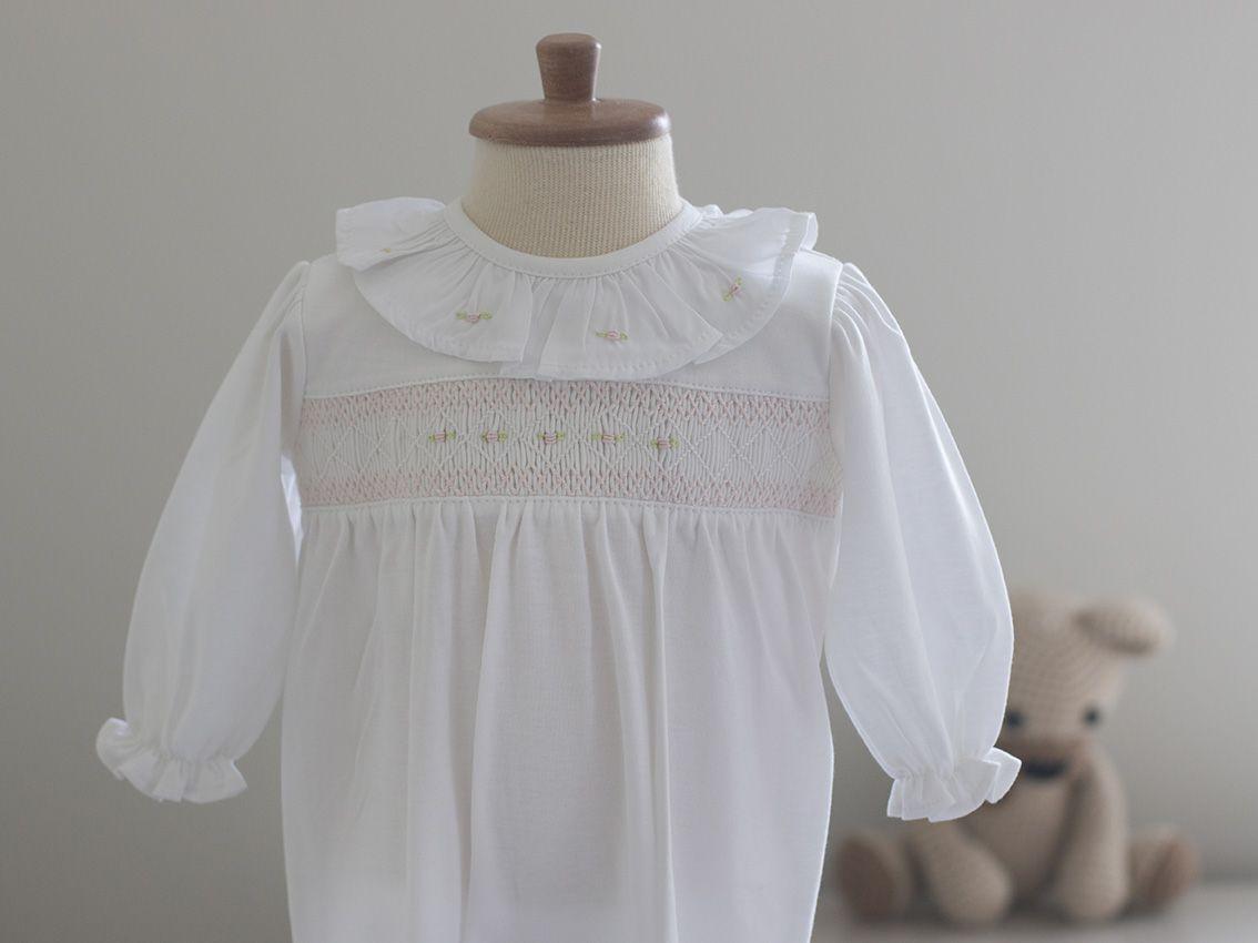 Saída Maternidade Carinho Branca- Algodão Pima