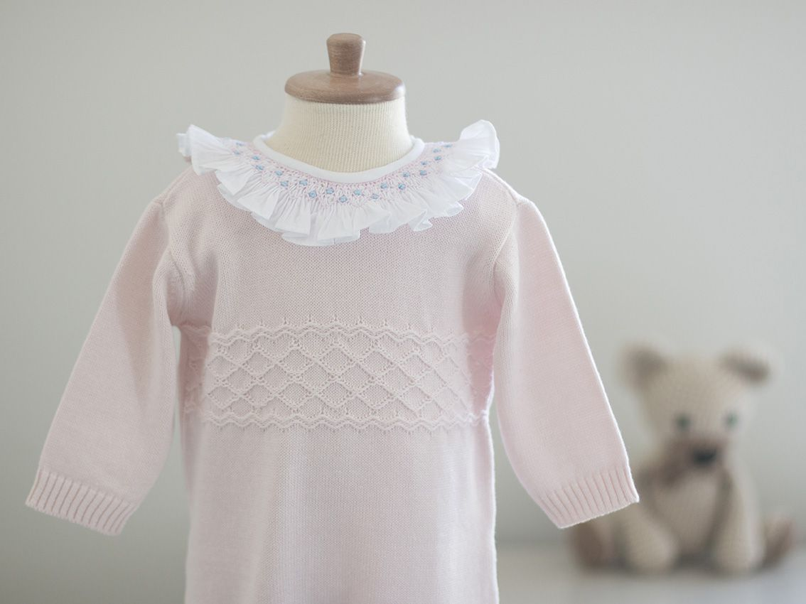 Saída Maternidade Amor Rosa - Tricô