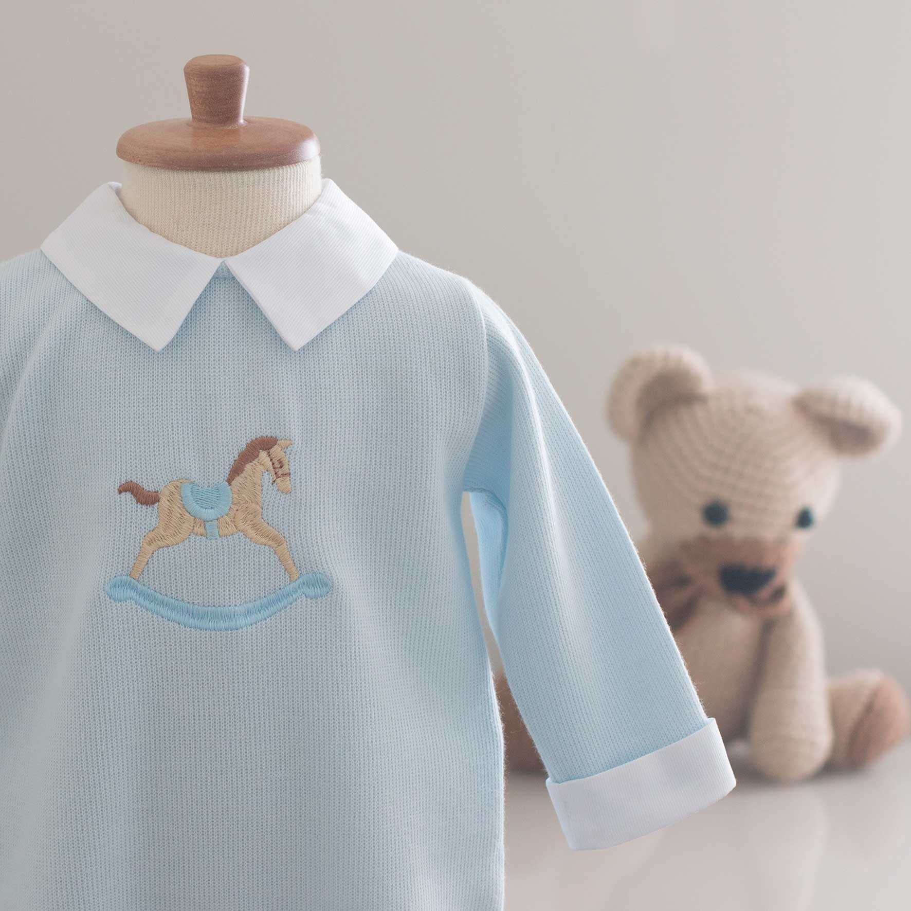 Saída Maternidade Noah Azul - Tricotil