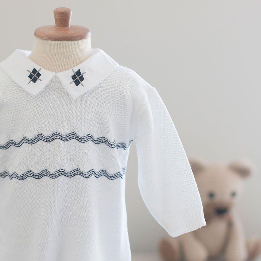 Saída Maternidade Pelúcia Branca - Tricô