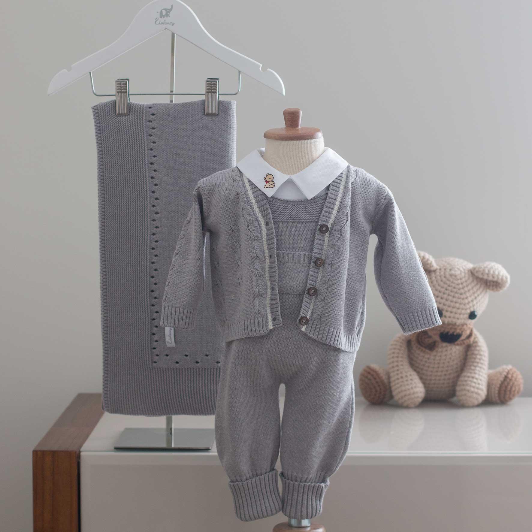 Saída Maternidade Silver - Tricô