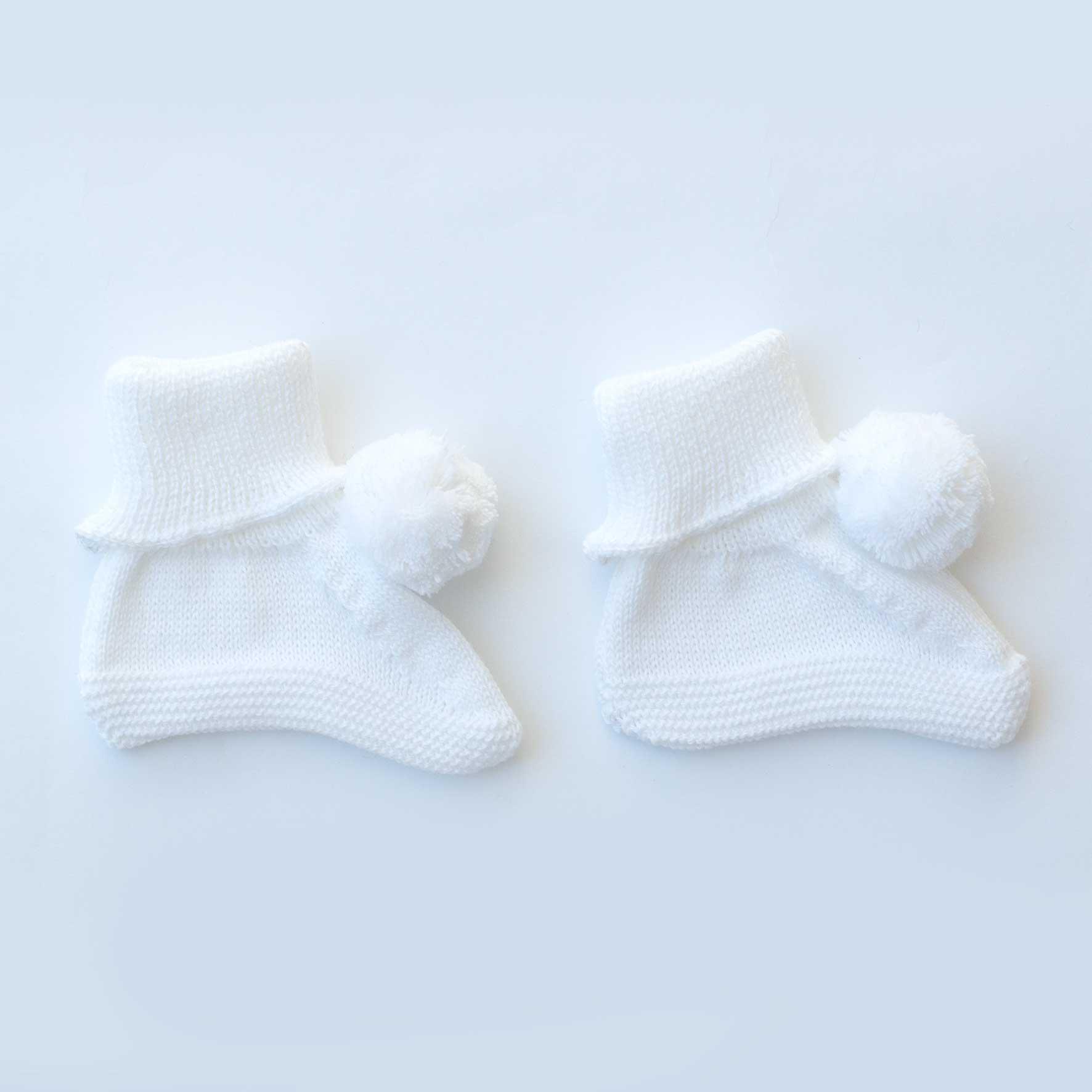Sapatinho Pompom Branco