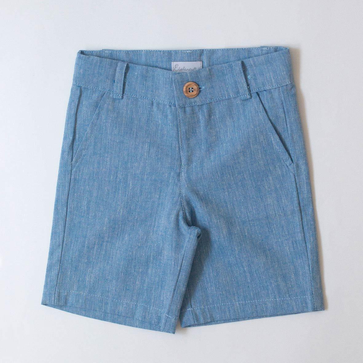 Shorts Linho Azul