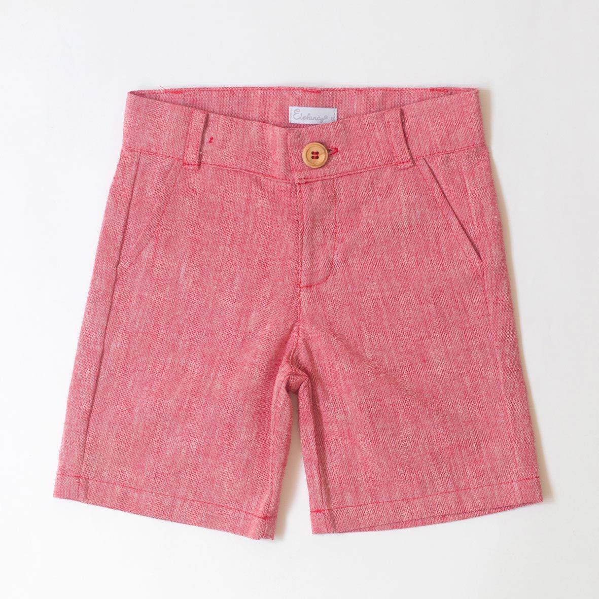 Shorts Linho Vermelho