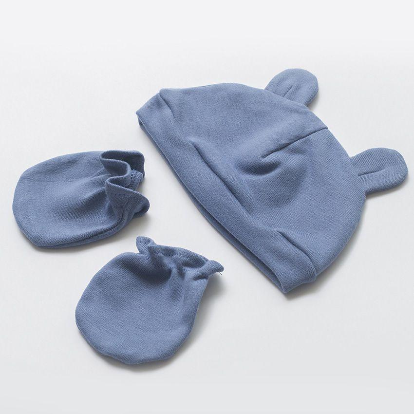 Touca e Luva Urso Azul