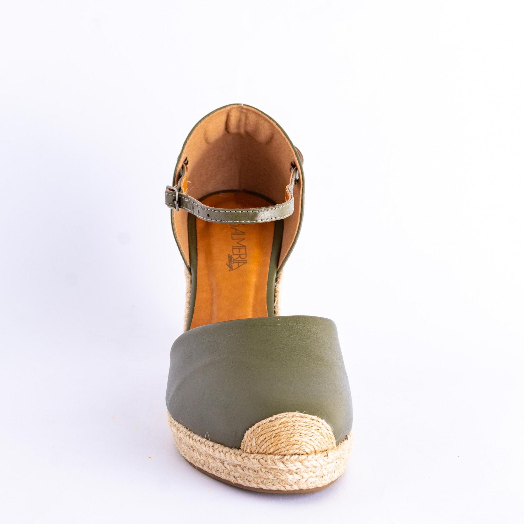 Sandália Verde Espadrille Salto Médio