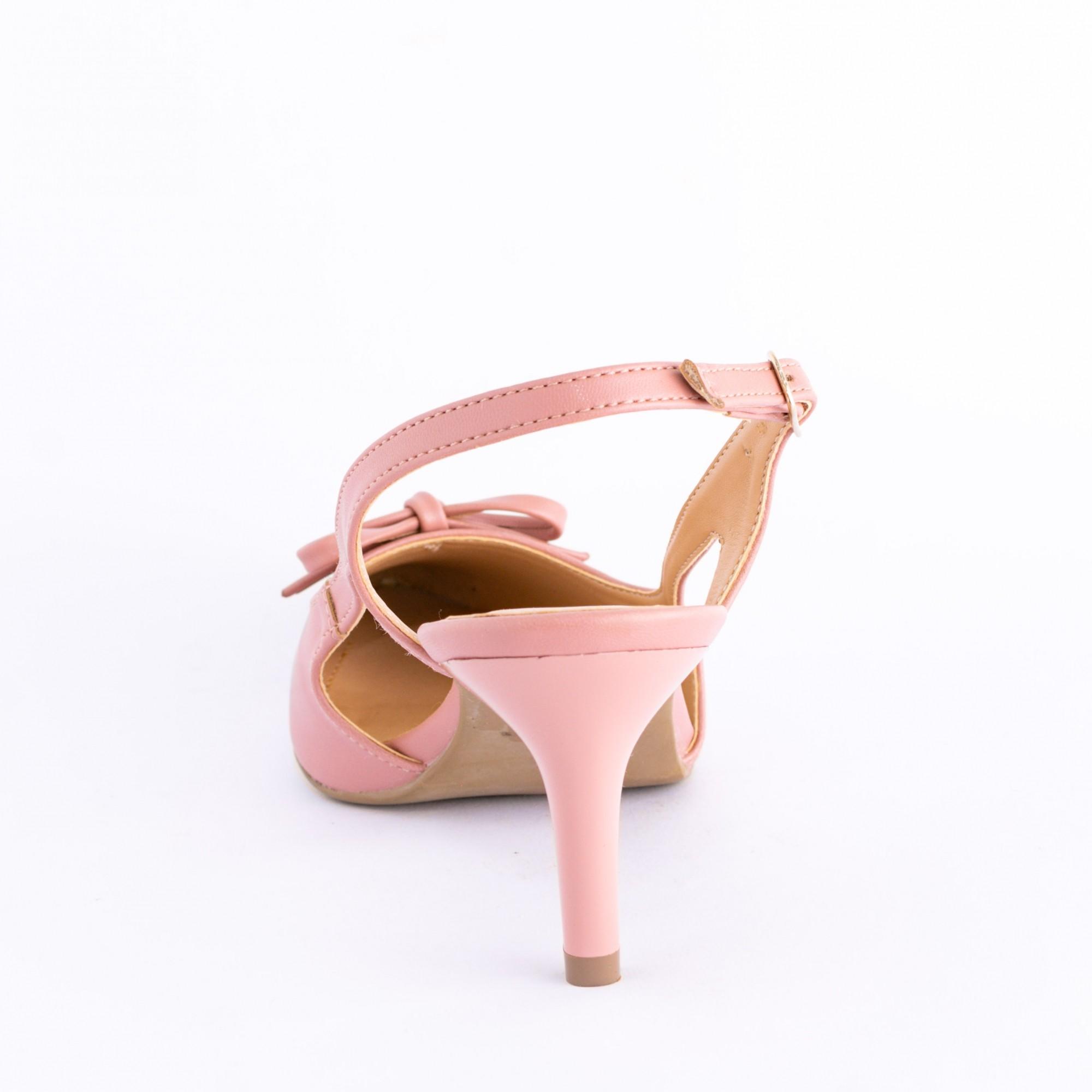 Scarpin Chanel Rosa Salto Fino Médio