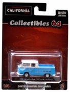 Miniatura 1:64 Volkswagen Type 2 T2 Double Cab Pickup Série 2 1968 California Collectibles