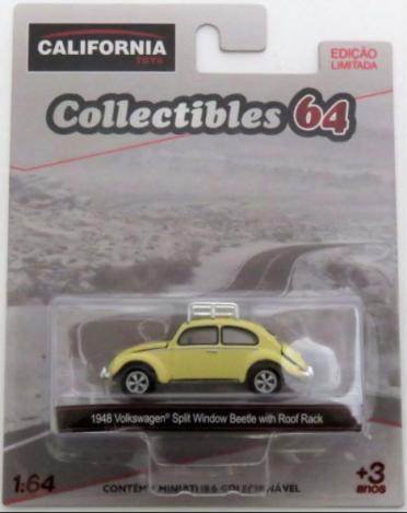 1948 Volkswagen Split Window Beetle w/ Roof Rack - California Collectibles 64 - Serie 4 - 1/64 - Greenlight