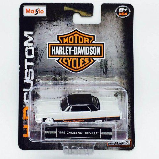 1965 cadillac deville Harley Davidson Hd Maisto 1/64