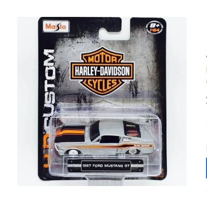 1967 Ford Mustang Gt Harley Davidson Hd Maisto 1/64
